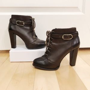 Banana Republic Brown Leather Booties